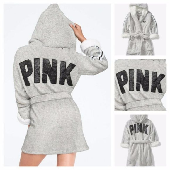 PINK VICTORIA SECRET Sherpa Lined Marshmallow Robe